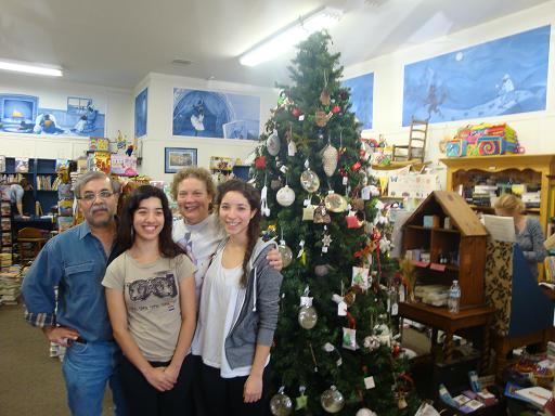 Palacios Family from left to right Jorge, Jessica, Maureen, & Amelia - Current owners of Once Upon A Time