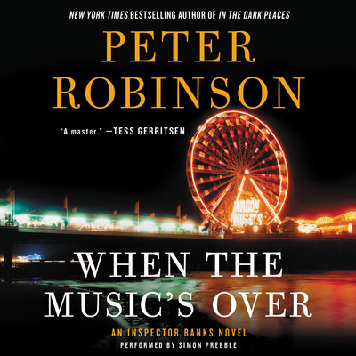 When the Music's Over audiobook cover and link to Libro.fm