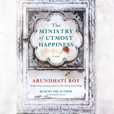 The Ministry of Utmost Happiness audiobook cover and link to Libro.fm