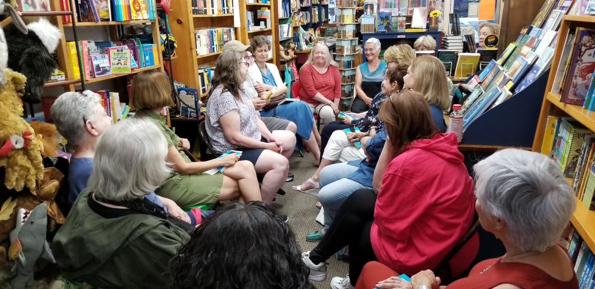 Our Adult Book Club meeting at America's Oldest Children's Bookstore