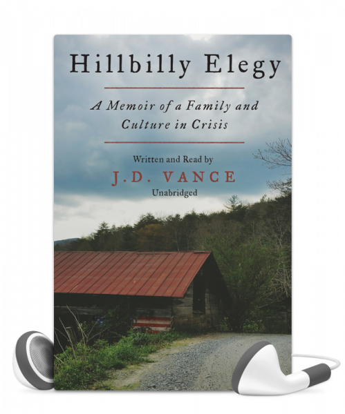 Hillbilly Elegy written by J. D. Vance, read by J. D. Vance, audiobook from Libro.fm