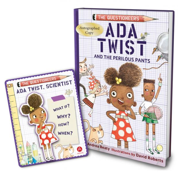 Independent Bookstore Day 2019 Exclusive Item Ada Twist Book and Patch