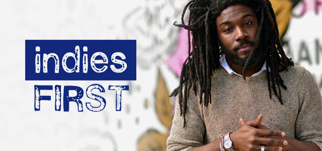 Indies First and Small Business Saturday celebration at Once Upon A Time Bookstore on November 24, 2018 with a donation of Ghost by Jason Reynolds