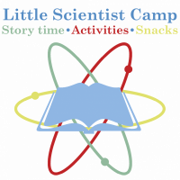 Little Scientist Camp at Once Upon A Time Bookstore with story time, activities, and snacks
