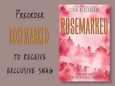 Preorder Rosemarked by Livia Blackburne from Once Upon A Time Bookstore