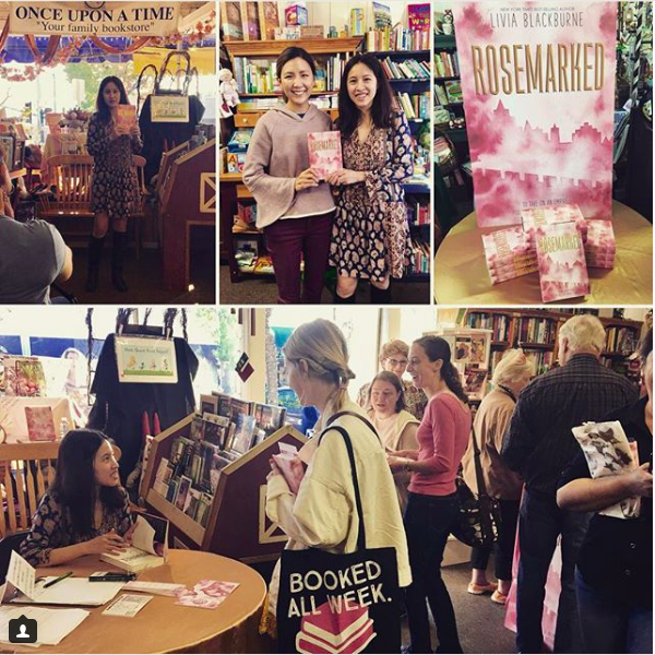 Rosemarked Book Launch and Release Party with Livia Blackburne at Once Upon A Time Bookstore on November 10, 2017. Picture from Instagram