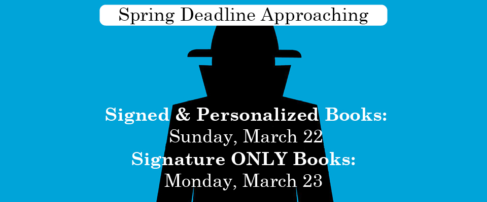 Spring Deadline Approaching for Stuart Gibbs Signed and Personalized Books on Sunday, March 22, Signature ONLY books on Monday, March 23