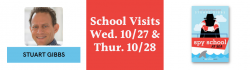 Stuart Gibbs Virtual School Visit on Wed. 10/27 and Thurs. 10/28 for Spy School at Sea